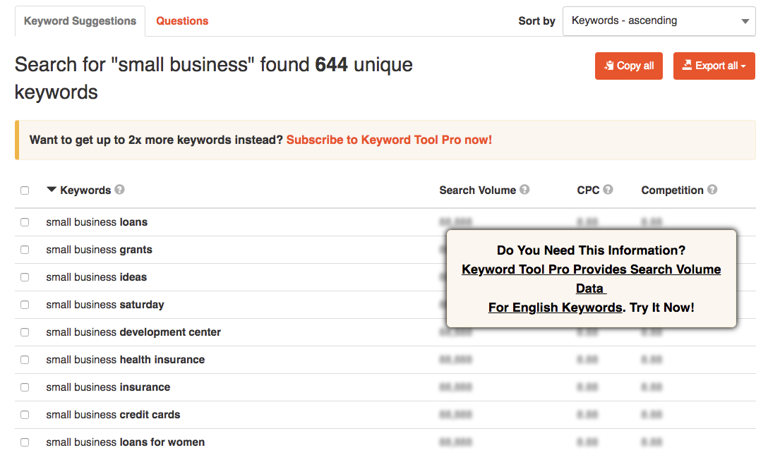 Keywordtool.io Keyword Research Tool for SEO