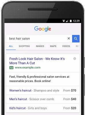 Using price extensions to optimize mobile PPC results