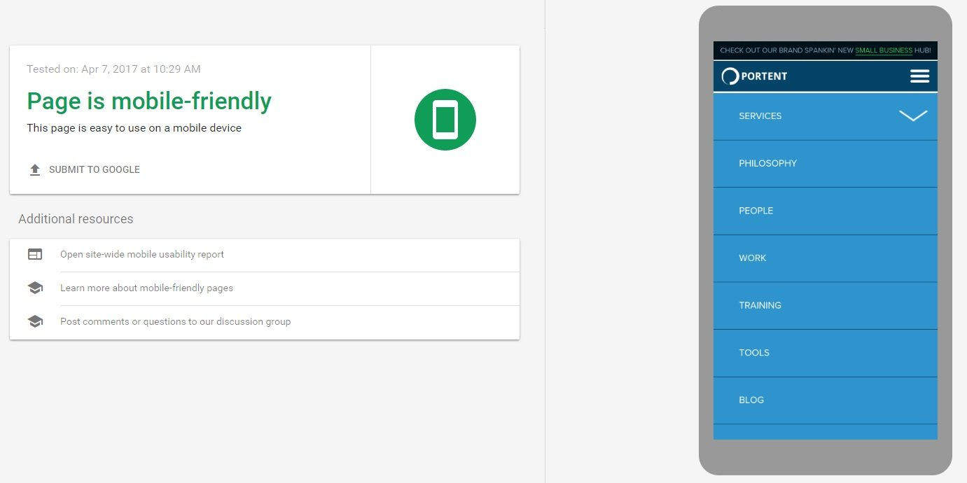 Google provides a free tool to evaluate your mobile website