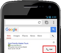 Using call extensions to optimize mobile PPC results