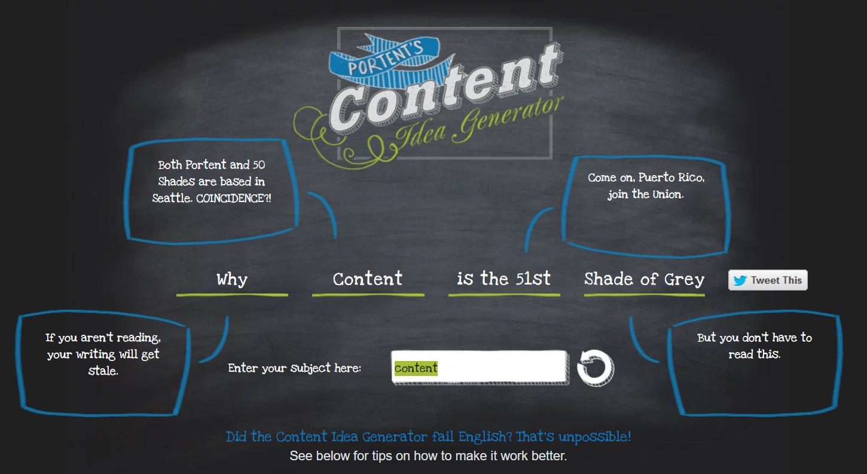 Content idea generator and content title best practices