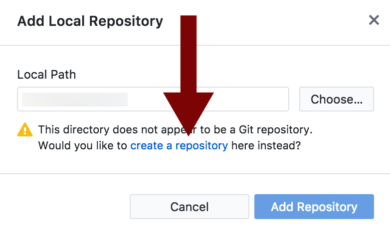 Create a new repository in Github Desktop