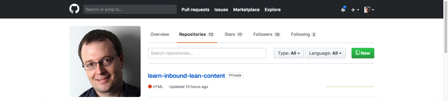 Your content project, on Github