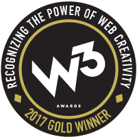 2017 W3 Gold Award Badge