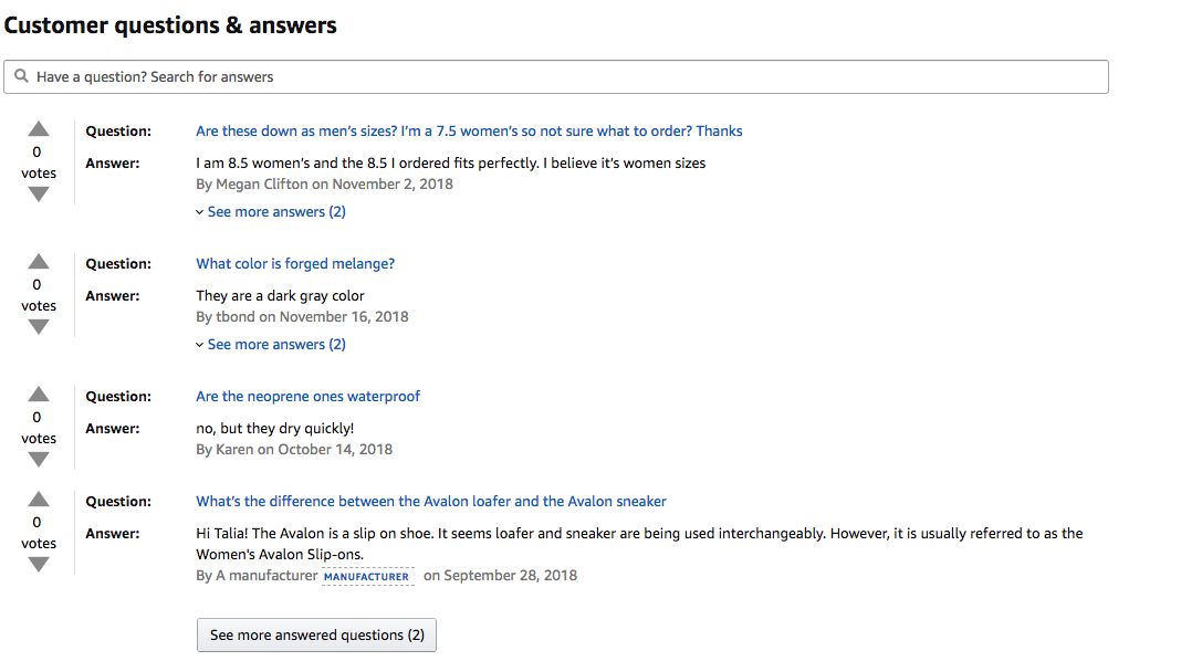 Amazon Customer Questions & Answers