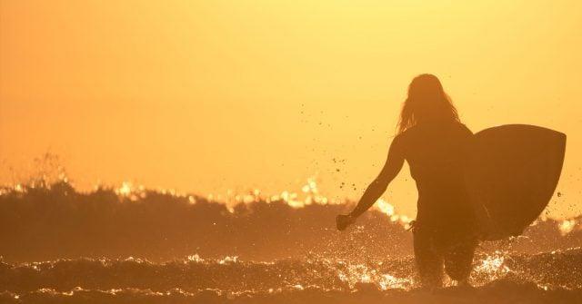 Female surfer Kalon Surf school
