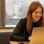 Portent Careers - Image of a young woman working in digital marketing