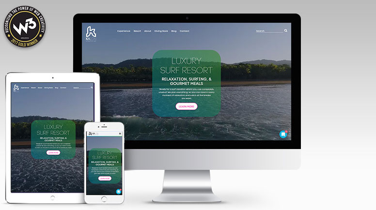 Kalon Surf website by Portent wins gold ADDY award for best practices in web design