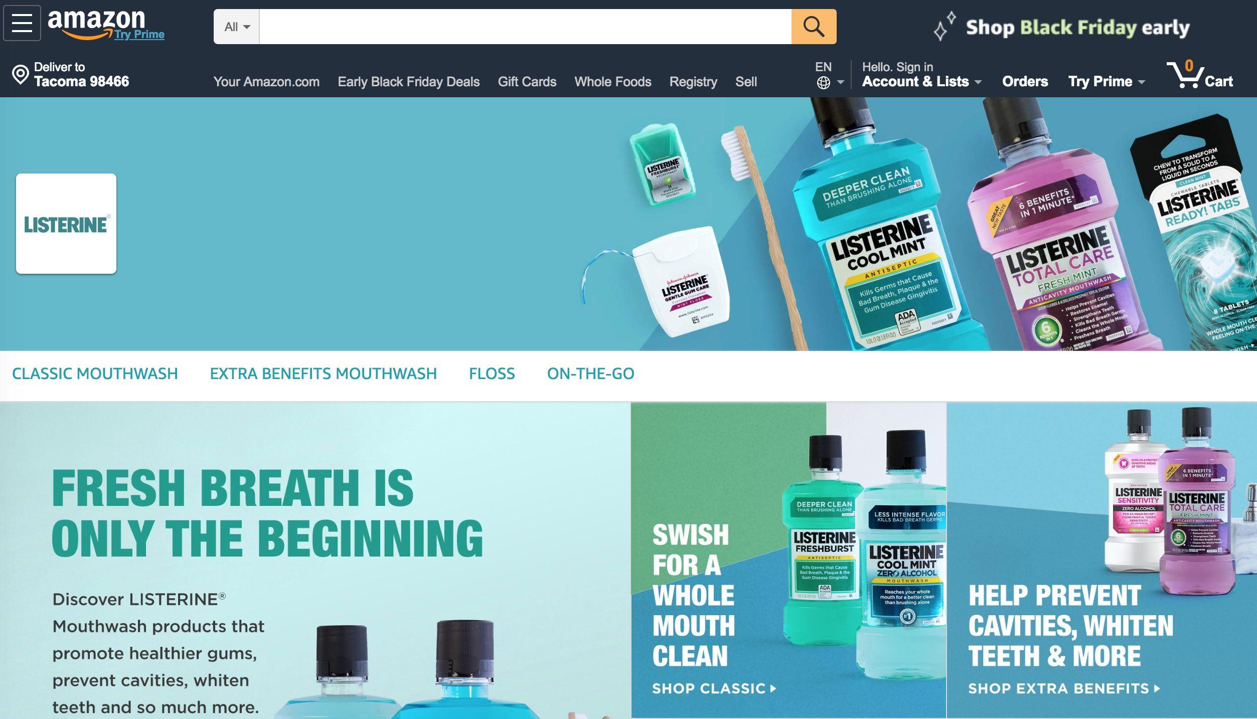 Listerine Amazon Store