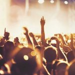 Music streaming service digital marketing case study - image of a crowd at a concert