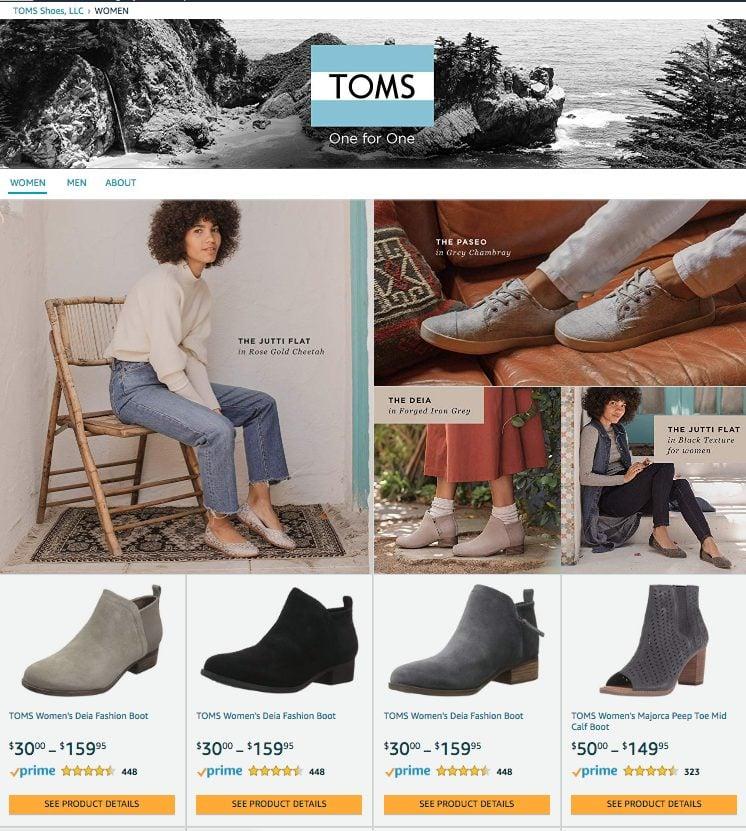 TOMS Amazon Store