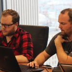 Evan Hall working on SEO at Portent a Seattle-based digital marketing agency