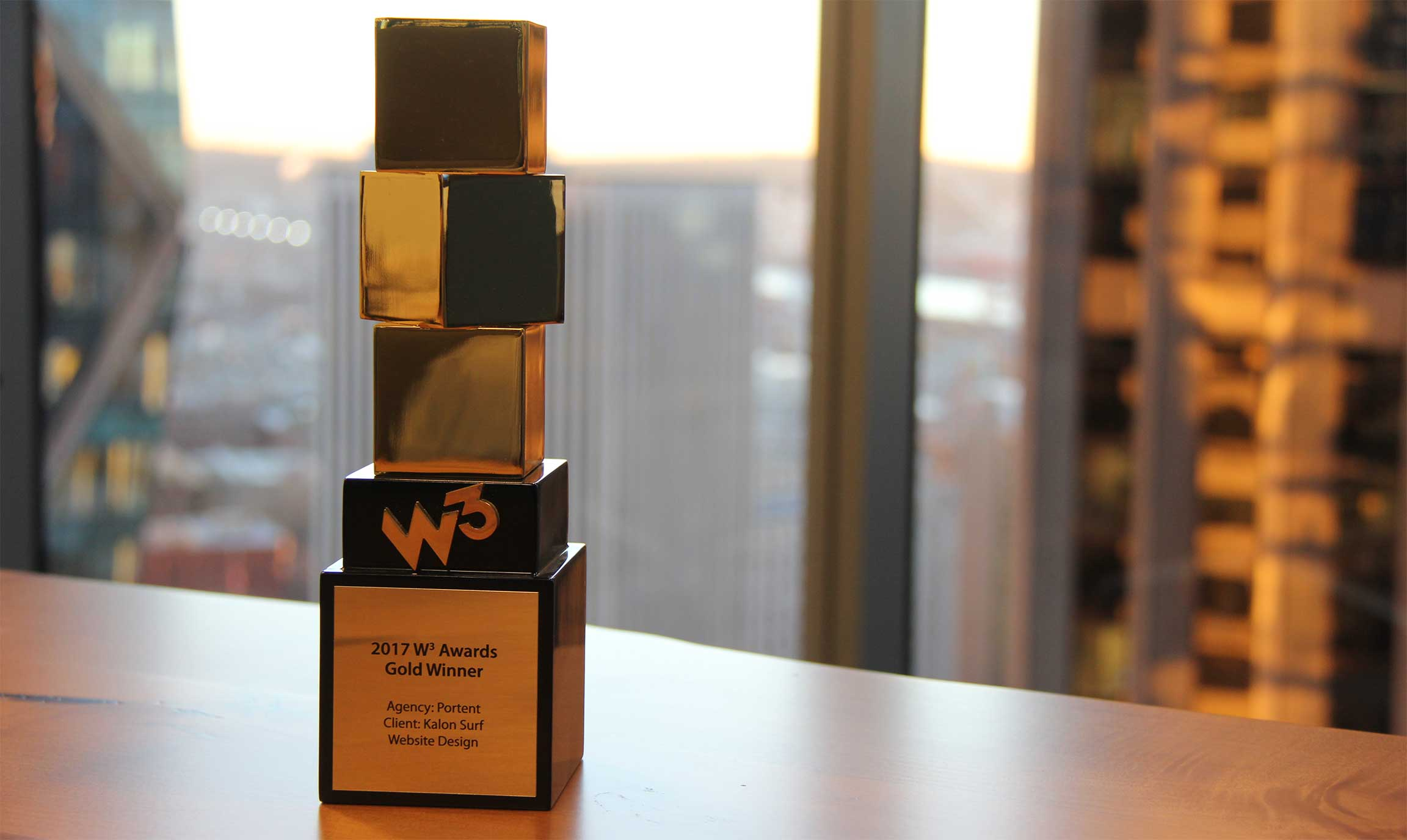 W3 award for best practices Kalon Surf and Portent a digital marketing agency in Seattle