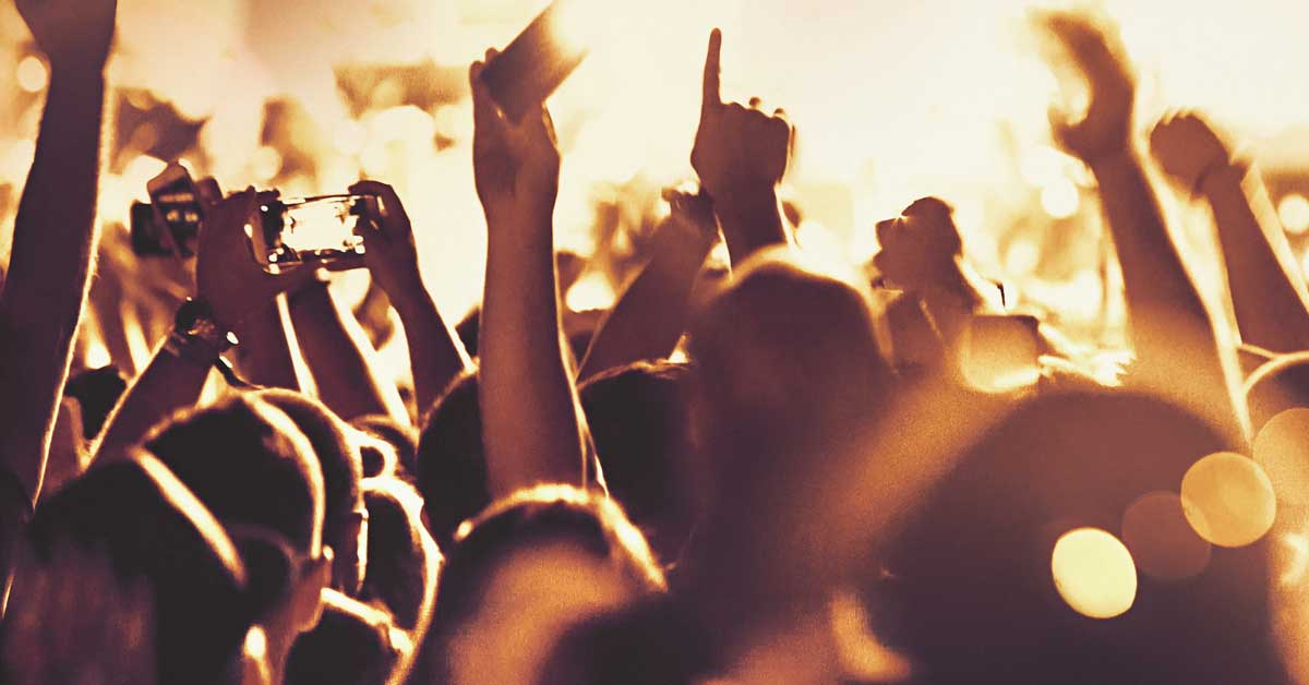Music streaming service digital marketing case study - crowd at a concert