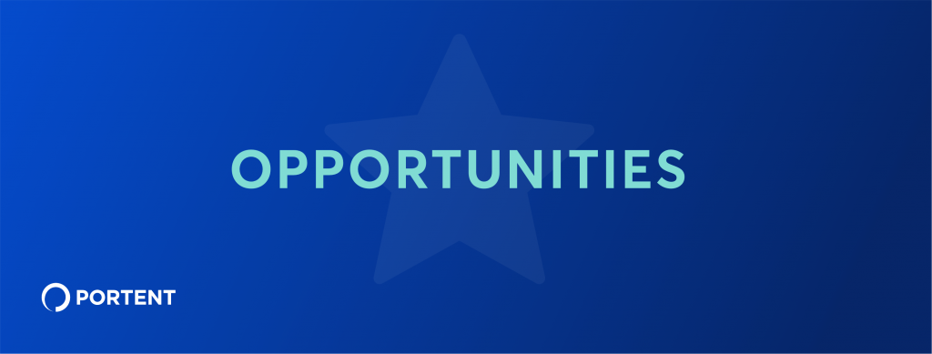 Graphic of a blue box with a star in the middle and the word opportunities inside