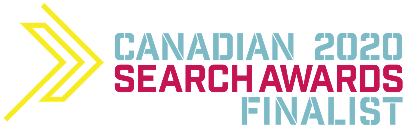 2020 Canadian Search Award Finalist Badge