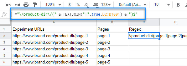 "You can see here that the formula entered in the function field is ""=""/product-dir/("" & TEXTJOIN(""