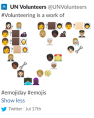 Since the emoji code didn't transfer properly to Slack, some images appeared as square blocks of color, or were replaced with something complete different.