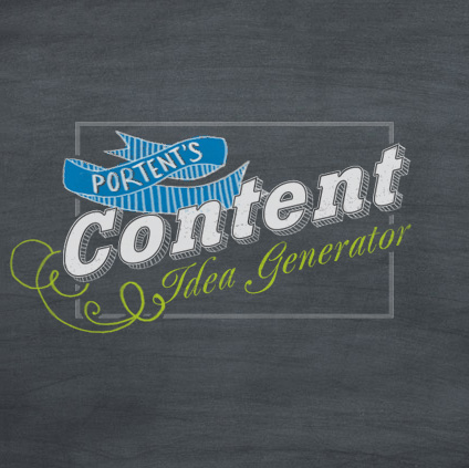 Portent's Content Idea Generator - Instant Blog Topic